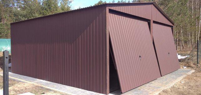 Garaż blaszany 6x5,6x6,7x6, 5x6, 8x6 podwójny,ciemny brąz, producent
