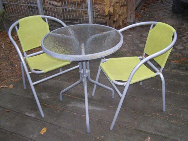 Stolik ogrodowy- balkonowy dwa krzesełka