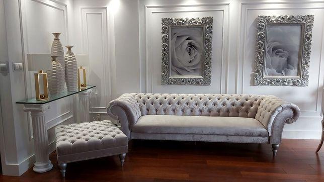 Sofa Pikowana Chesterfield Glamour 3 Osobowa Taormina