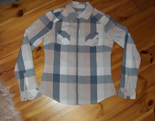 SAINT TROPEZ koszula pastelowa w kratę M