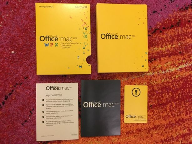 Office Mac Home & Student 2011 PL KLUCZ BOX