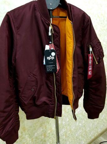 Куртка бомбер Alpha Industries MA-1 slim fit Maroon