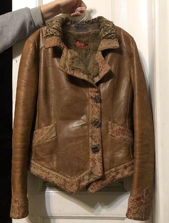 Кожаная куртка на меху Etro Milano ( Оригинал)