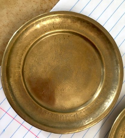 бронза подставка тарелочка пепельница ракушка винтаж клеймо Германия