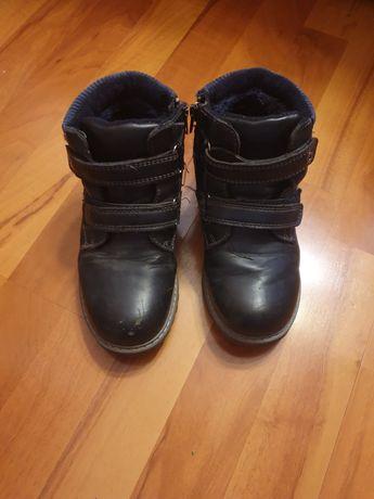 Buty zimowe ciepłe śniegowce dla chłopca granatowe r. 31