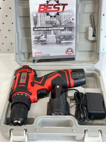 Шуруповерт аккумуляторный Best ДА-12 V !!! 2 аккумулятора