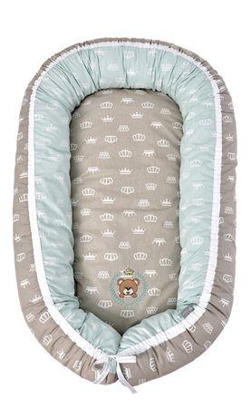 Кокон для новорожденных с ортопедической подушкой и матрасиком