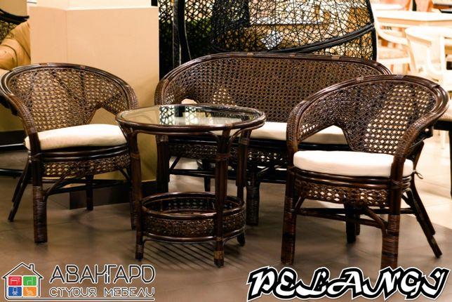 """Ротанговый набор мебели (диван, 2 кресла, стол) для отдыха """"Pelangi"""""""