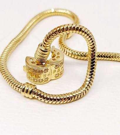 Złoto Złota bransoletka próba 585  Długość 19.5 cm