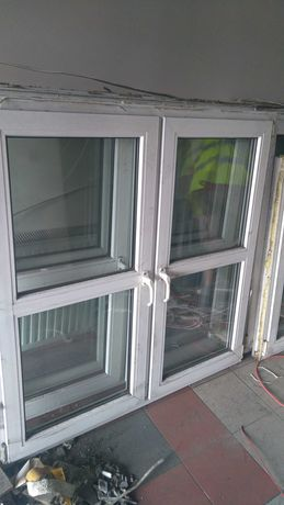 Okna plastikowe dwuskrzydłowe-używane
