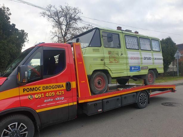 Tania Pomoc drogowa 24H, holowanie, laweta, transport, skup aut
