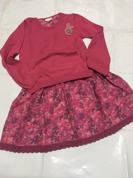 Conjunto primaveril camisola/saia vertbaudet 8anos