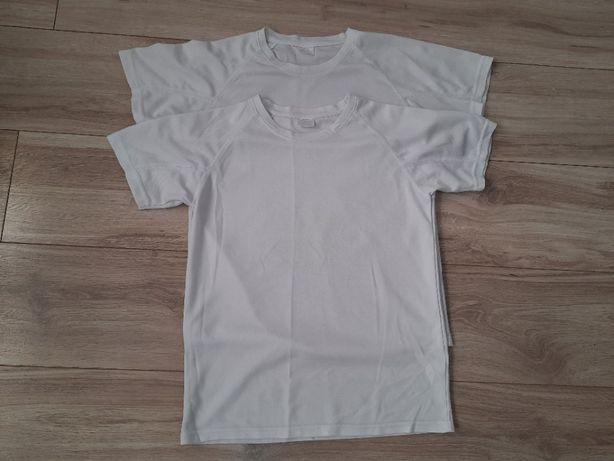 Koszulka biała funkcyjna szt.2, wzr. ok. 150 cm, stan bdb