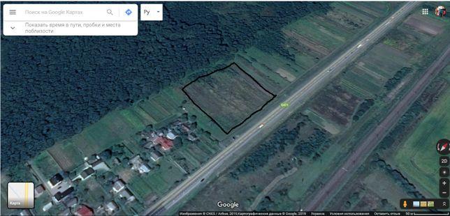 Продаж земельної ділянки біля траси Київ -Чоп