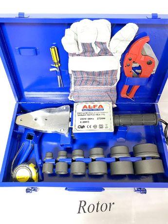 Паяльник для пластиковых труб AL-FA 2720 W Гарантия год 6 насадок