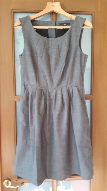 Szara elegancka sukienka do pracy H&M roz. 38