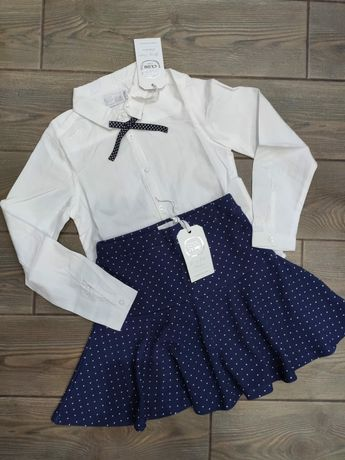 Комплект костюм юбка + блуза 128см новый с бирочкой