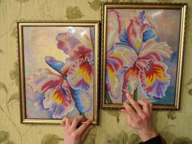 Квіти. Картина з бісера Цвети