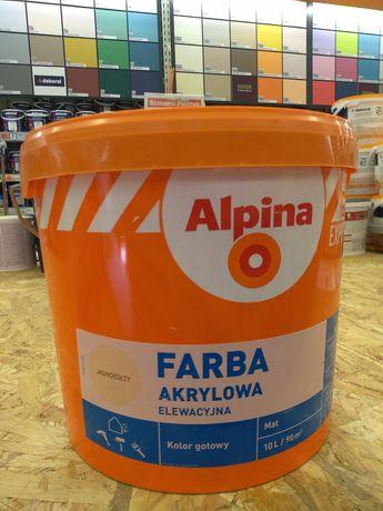 OBI Alpina Farba akrylowa elewacyjna jasnożółta 10 l