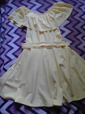 Женское летнее жёлтое платья
