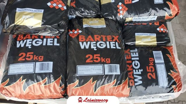 Węgiel Ekogroszek BARTEX GOLD mocny workowany 29-27MJ popiół 3-5% opał