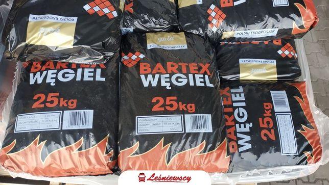 Węgiel Ekogroszek BARTEX GOLD mocny workowany 28-30MJ popiół 3-5% opał