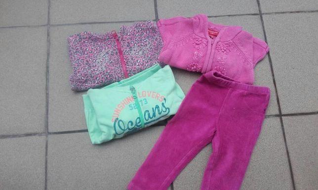 Ubranka dla dziewczynki roz. 62-68 (całość)