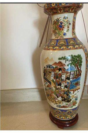 Vaso/Jarrão decorativo motivos chineses