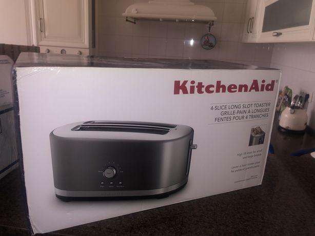 Тостер KitchenAid 5KMT4116EER, серый два раздела на 4 тоста