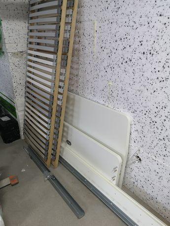 Rama łóżka 140x200 ASKVOLL + stelaż pod materac ikea
