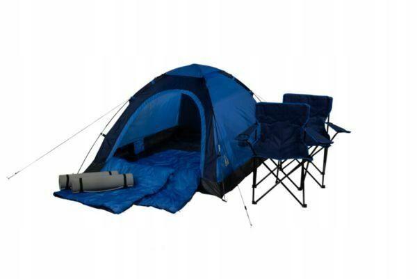 ZESTAW namiotowy Best Camp NAMIOT KRZESŁA MATY Komplet !!