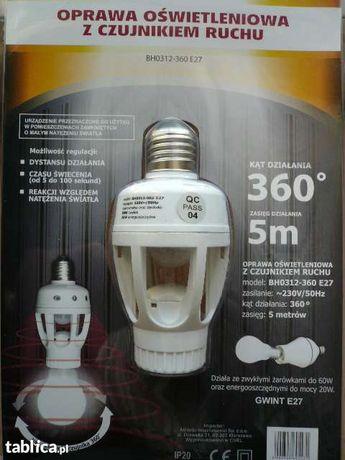 NOWE, Oprawy oświetleniowe z czujnikiem ruchu, 360 stopni.