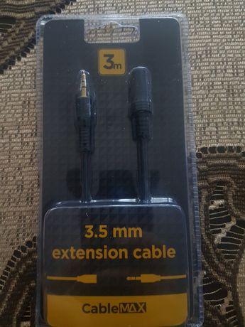 Kabel przewód audio przedłóżka słuchawek aux jack 3,5mm
