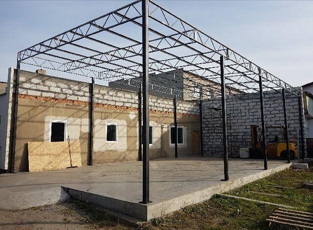Wiata rolna garaż Konstrukcja skręcana 12,3 x 8,1m Hala Magazyn Blacha
