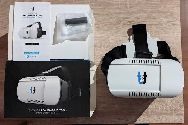 Óculos de realidade virtual para telemóvel.