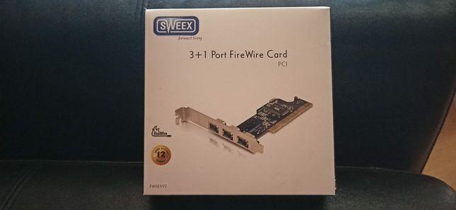 Port FireWire Card 3+1  PCI