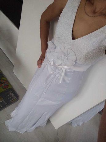 Sukienka ślubna biała suknia ślub wesele cywilny