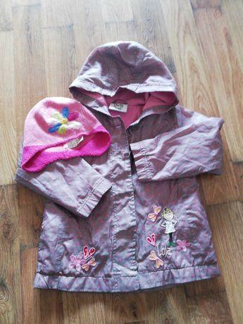 Kurtka wiosenna dziewczęca szaro-różowa oryginalna Lola 110-116 Tu