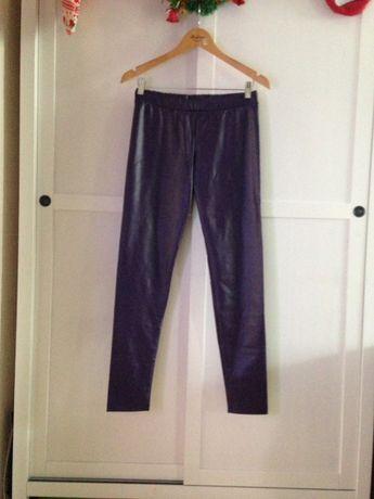 Кожаные лосины брюки эко кожа Calzedonia оригинал Max Mara Chanel
