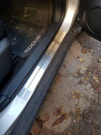 Накладки на пороги хром для Nissan Rogue/X-Trail/Qashqai/Note/Leaf