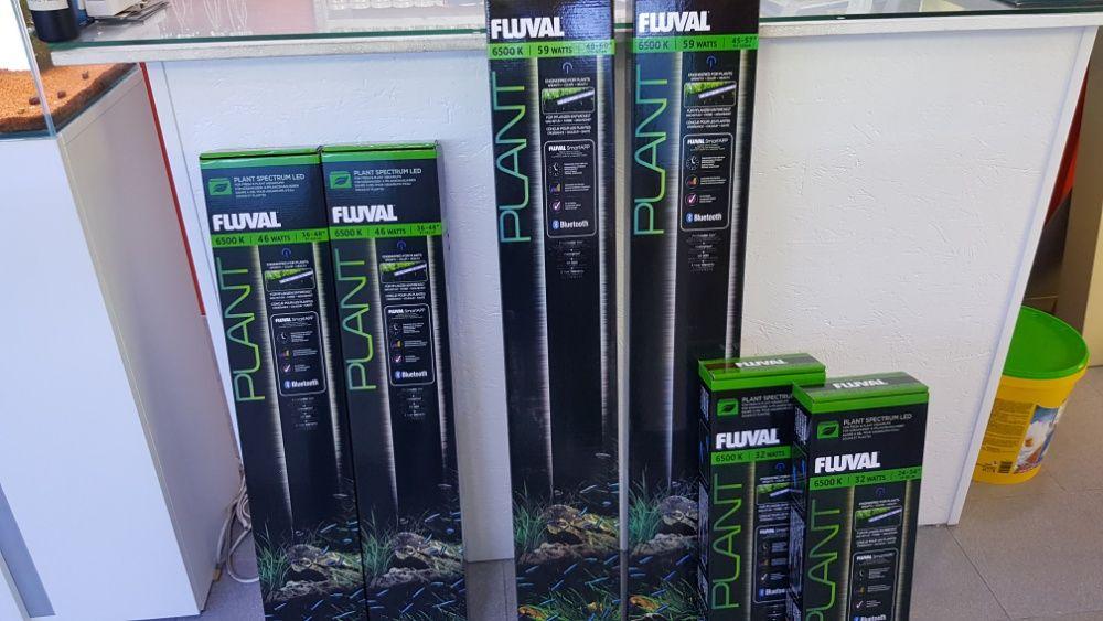Calha led fluval plant 46w nova para aquário