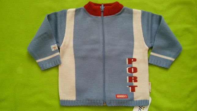 Nowy sweterek dla chłopca 1-1,5 roczku