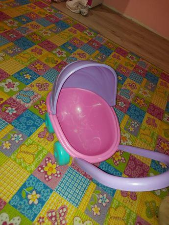 Wózek dla lalki różowo fioletowy