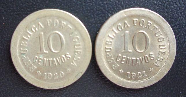 Par Moedas 10 Centavos 1920/21