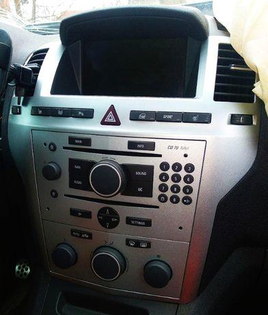 Radio CD70 navi wyświetlacz komplet Opel Zafira B