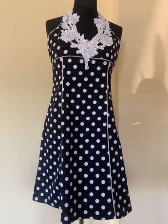 Sukienka w grochy z haftem NOWA