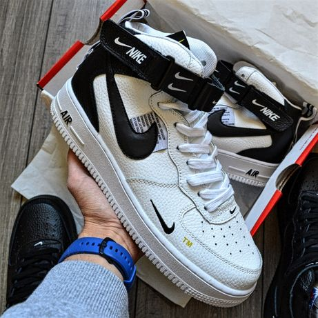 "Nike Air Force 1 07 Mid LV8 ""Black&White"""