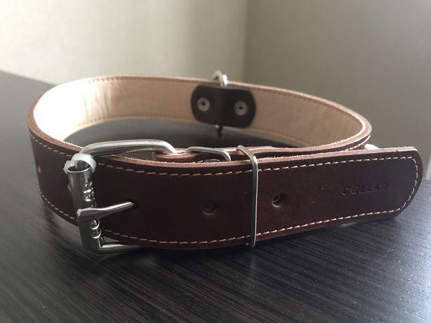 Ошейник Collar двойной с шипами 3,5х63 см коричневый
