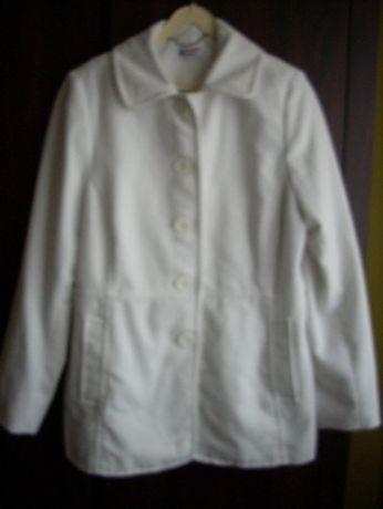 Sprzedam biały płaszczyk jesienno-wiosenny