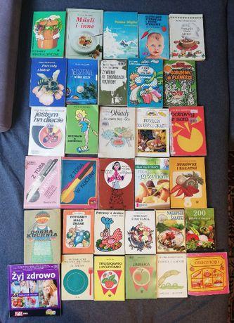 Zestaw 3-książki kucharskie-vintage i współczesne-32 sztuki